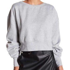 Fate Ruffle Sleeve Cropped Sweatshirt